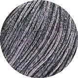 Lana Grossa Linea Pura Organico freie Farbwahl hochwertige Wolle Baumwolle Bio (405 - Rosagrau meliert)
