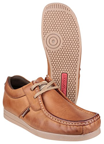 Base London Sturm Lace Herren Schuhe Tan-Crazy