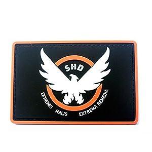Minkoll Correctifs de Jeu, Caoutchouc Division SHD Ailes Dehors Moral en PVC Airsoft Patch Badge