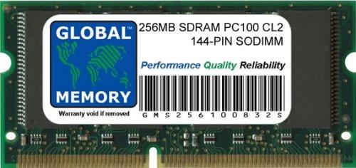 GLOBAL MEMORY 256MB PC100 100MHz 144-PIN SDRAM SODIMM ARBEITSSPEICHER RAM FÜR NOTEBOOKS -