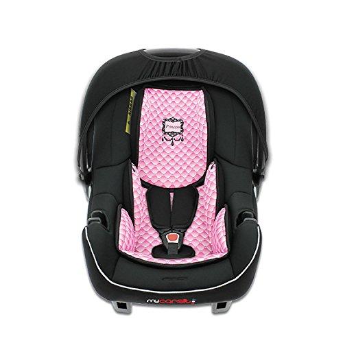 mycarsit asiento auto, grupo 0+ (0A 13kg), diseño de rosa, princesa