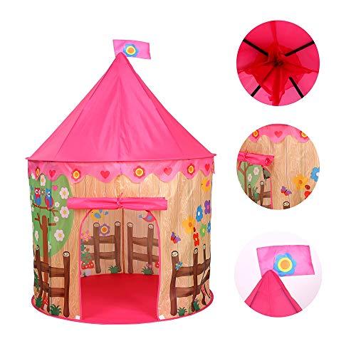 YRE niños Tienda Princesa Interior Air Acondicionado Mosquitos mosquitera yurta, niña Princesa Castillo de Juguetes Amusement, Rosa