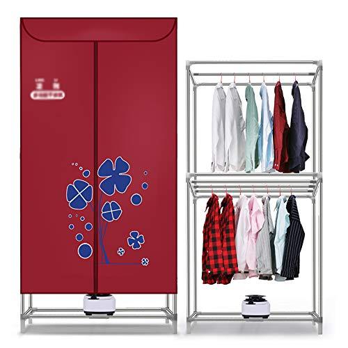 Household asciugatrice, rosso spessore vestiti in acciaio inox asciugatrice grande capacità ad asciugatura rapida gancio multifunzione guardaroba portatile clothesline per il risparmio energetico