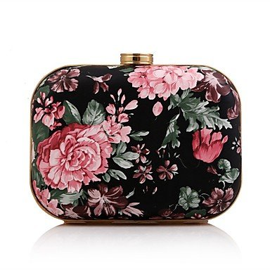 pwne L. In West Woman Fashion Blumendruck Abend Tasche Blushing Pink