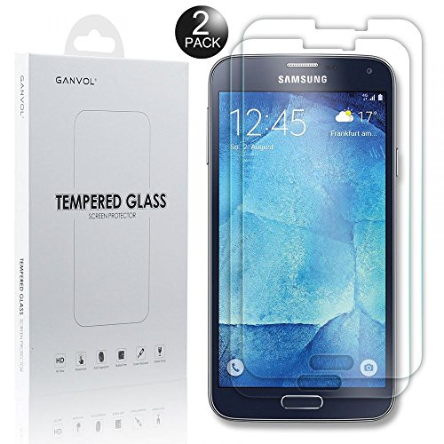 Ganvol (2er Set Panzerglas für Samsung Galaxy S5 Neo / S5 / S5 DUOS SM-G903FZKADBT / SM-G900FZKADBT Panzerfolie Panzerglasfolie Glasfolie Schutzglas 9H