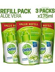 Dettol Liquid Handwash Refill - 175 ml (Aloe, Pack of 3)
