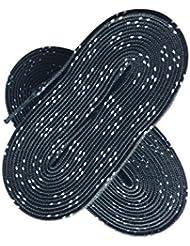 10pares encerado Hockey Skate cordones para Roller Derby de Hockey sobre hielo Ice patines botas de curling, negro