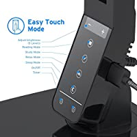 Etekcity LED Desk Lamp, 4 Lighting Modes, 5-Level Dimmer, Eye-Care Dimmable Touch Control Table Lamps for Study, Office & Reading, with 5V/1.5A USB Charging port, Auto Off Timer, Black from Etekcity