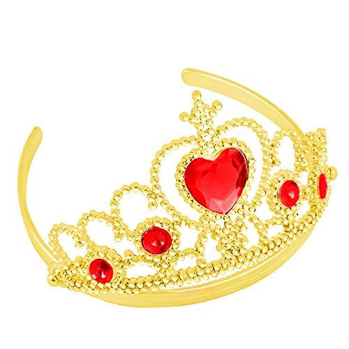 chenke Kristall Tiara Kronen Mädchen verkleiden sich Party,Kostüm Prinzessin, Hochzeit Diadem für Kinder (Gold) ()