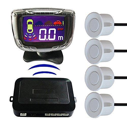 MyHung pantalla LCD coche inalámbrico sistema de alarma de alerta de copia de seguridad Radar sensores de aparcamiento 4sensores