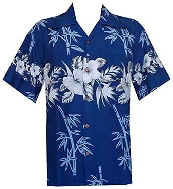 hawaiian shirts mens bamboo tree print beach aloha party