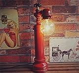 FACAIG Retro Industrial Vintage Schreibtisch Lampe E27 Eisen Wasserleitung Tischleuchte mit Dimmer Schlafzimmer Nachttischlampe Bar Cafe kreative Dekoration Handwerk DIY Schreibtisch Tabelle für das Aufleuchten der Kontrolllampe (Wasserhahn), B
