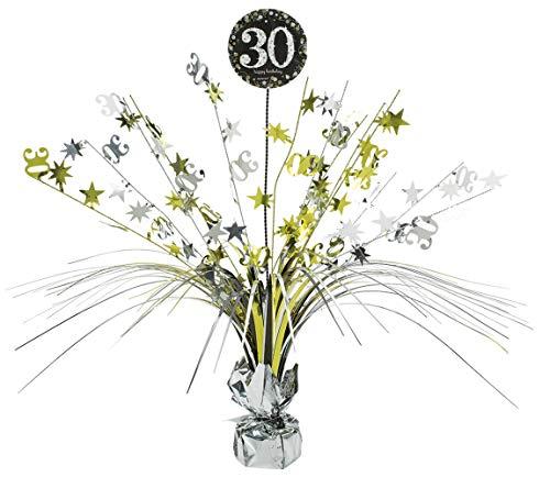 amscan 110295 Tischdekoration 30 Sparkling Celebration, Silber & Gold