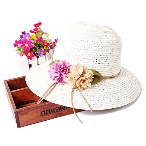 Chapeau coréen plage paille/Aucun lecteur/A des vacances M
