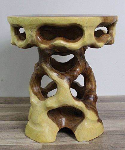 floristikvergleich.de Hartholz Blumenhocker / Tisch Rund 43cm
