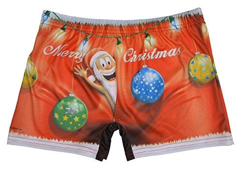Weihnachten Motiv Boxershort - Herren Unterwäsche : X-Mas -- Scherzartikel Weihnachtsgeschenk Short Farbe: mehrfarbig Gr: oneSize