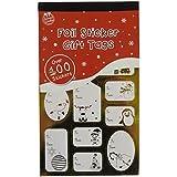 Pegatinas de Navidad de Papel de Aluminio x 100 Doradas y Plateadas para Regalos Etiquetas