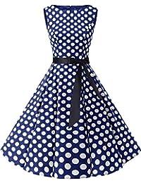 Bbonlinedress 50s Retro Schwingen Vintage Rockabilly Kleid Cocktail Faltenrock