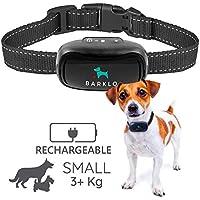 Barklo Pequeño Collar Anti ladridos para Perros Descargas Recargable 12-49cm y Resistente al Agua Sistema de Disuasión de Ladridos por Vibración para Perros Pequeños y Medianos DE +2,7 kg