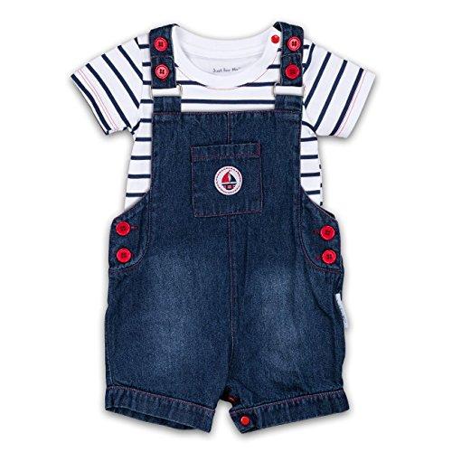 Jungen Set T-Shirt und Jeans Latzhose kurz 6-12 Monate (74/80)