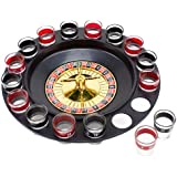 Roulette Drinking Game with 16 Black and Red Shot Glasses by The Brewski Brothers by Brewski Brothers