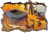 Ultras Dresden und Stadion, 3D Wandsticker Format: 92x62cm, Wanddekoration