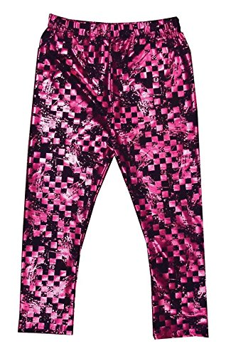 Draculaura Monster High Creeperific Leggings Pink & Black Size 8-10 Metallic Hot Pink
