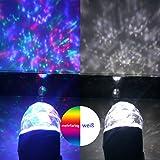 SMITHROAD LED Projektionslampe mit Erdspieß Wand Beleuchtung für Halloween Karneval Weihnachten Innen & Außen IP44 Gartenstrahler Zweifarbig Farbwechsel,Weiß und Mehrfarbig