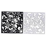 Sharplace 8 Stück Raumteiler Kunstoff Trennwand Spanische Wand Sichtschutz Raumtrenner, Schwarz + Weiß