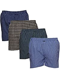 AKAAS Men's Boxers (Pack of 4) Assorted Mixed Variety