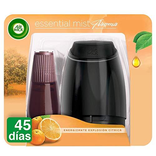 Air Wick Ambientador Essential Mist difusor de aceites Esenciales, Fragancia Explosión Cítrica, Aparato + 1 Recambio
