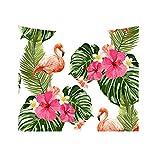 Originaltree Strandtuch mit Blumen- und Flamingomotiv, Wandbehang, Tapisserie, Heimdekoration, Polyester, 9#, 200*150cm