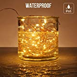 LE 20m 200 LED Copper Wire Lights, IP65 Waterproof Plug in Fairy Lights, Warm White Decorative String Lights for Party, Wedding, Garden and More Bild 6