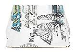FiveRen Tischsets, Rechteck Baumwolle und Leinen Stoff Platz Matte, Doppelseitig bedruckt Tägliche Basic Placemats 40x30cm (8er-Set, Farbe Schmetterling)