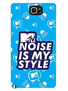 Samsung Note 5 Covers & Cases - MTV Gone Case - Noise Is My Style - Blue - Designer Printed Hard Shell Case