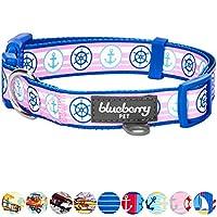 Blueberry Pet Collier pour chien Collection Bon Voyage Collier Chien motifs Nautique & ancres