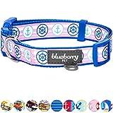 Blueberry Pet Halsbänder für Hunde 2 cm M Vielseitiges Bon Voyage Marine Seemann Designer Hundehalsband