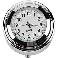 Ahomi - Reloj impermeable para manillar de motocicleta, 22/25 mm, para Harley (blanco)