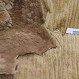 kawenSTOFFE zweiseitiger Mantelstoff Hellbraun Camel
