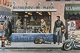 Rahmen-Kunst Keilrahmen-Bild - Chris Consani: Highway 51 Leinwandbild James Dean Marilyn Monroe Elvis Presley (50x75)