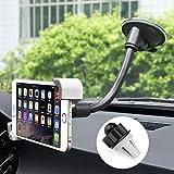 iVoler Support de Téléphone de Voiture (4.5-7 pouces ), 2-en-1 sur le Pare-Brise la Bouche d'Aération avec Fixation Facile support voiture support voiture avec Rotation de 360 degrés pour iPhone 7/7Plus/6S/6sPlus/5S/5C/SE, Samsung Galaxy S8/S7 Edge/S6 Edge,Huawei P10/P9/P8 Lite, LG G6, GPS, MP3 Player et les autres Smartphone