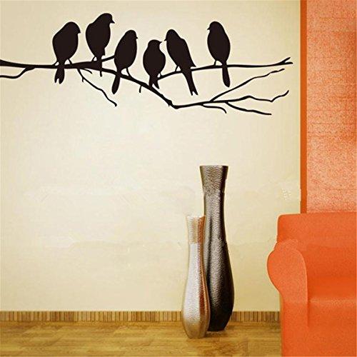 Inovey Amovible Oiseaux Branche Arbre Mur Autocollants Maison Art Décalques Bricolage Salon Décor