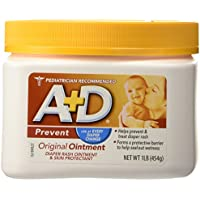 A+D Original Ointment Diaper Rash and All-Purpose Skincare Formula 1 lb (454 g)