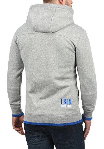 SOLID BenjaminHood Herren Kapuzenpullover Hoodie Sweatshirt mit optionalem Teddy-Futter aus hochwertiger Baumwollmischung Meliert Light Grey Melange (8242)