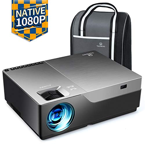 """51U2gX4vWKL. SS500  - VANKYO Performance V600 Native 1080P LED Projector, 6000 Lumens HDMI Projector with 300""""Display Compatible TV Stick, HDMI, VGA, USB, Xbox, Laptop, iPhone Android for PowerPoint Presentation"""