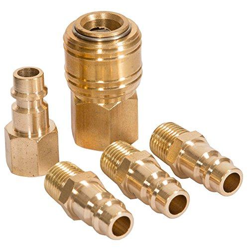 Preisvergleich Produktbild Druckluftkupplungsset 1/4 Zoll 5 teilig