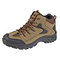 Mens Boys Hiking Boots Walking Ankle Trekking Trail Trainers Shoes UK 6-12 19