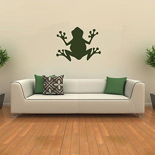 Einfache Frosch Silhouette Amphibie Wilde Tiere Wandaufkleber Heim Dekor Art Decals verfügbar in 5 Größen und 25 Farben X-Groß Weiß (Wild-tier-silhouette)