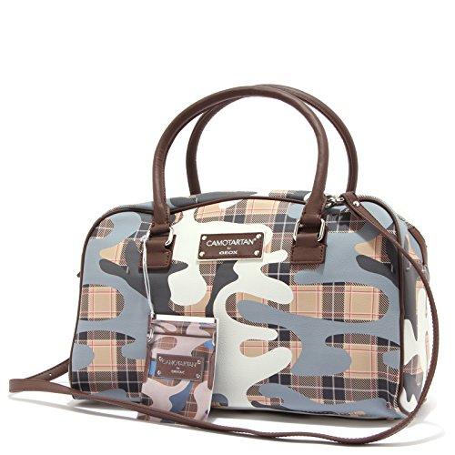 1340T borsa donna GEOX CAMOTARTAN tracolla staccabile bag woman Beige