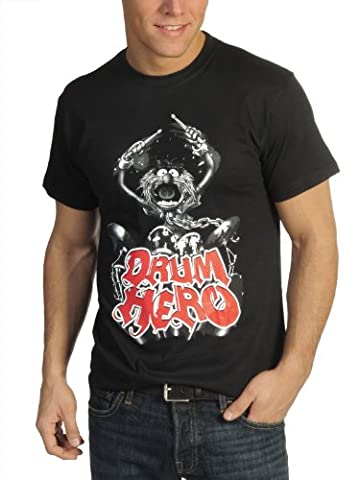 Muppets - Tier Animal Fan T-Shirt Motiv Drum Hero - XXL